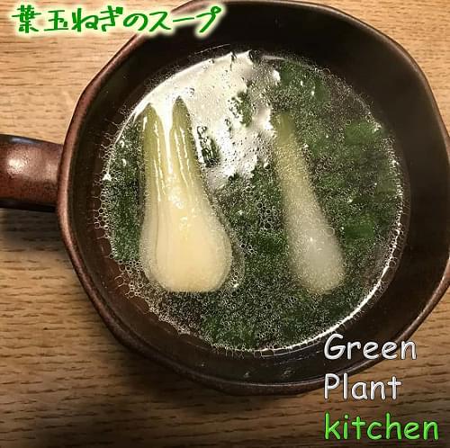 #旬野菜~葉玉ネギのスープ