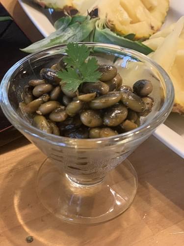 くらかけ豆の洋風ひたし豆